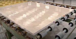 Fabricación de losas de mármol